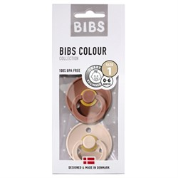 Bibs Colour İkili Emzik - Woodchuck / Blush